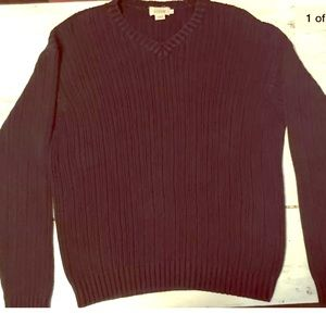 J.Crew • LARGE • Cable Knit • Sweater • Navy Blue